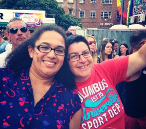 Lydia and her wife at Manchester Pride 2013